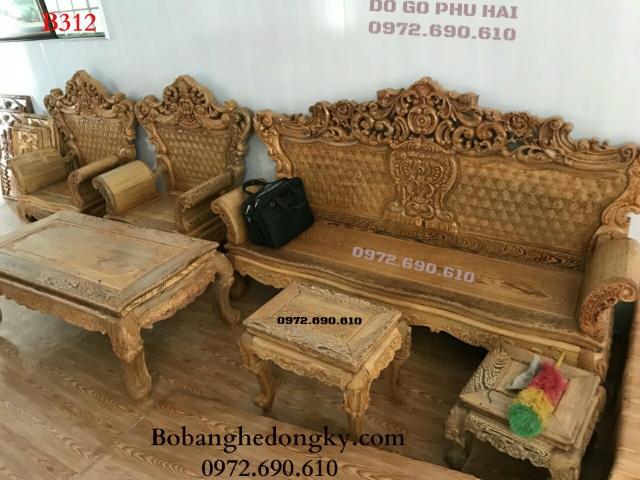 Bộ bàn ghế gỗ đẹp giá rẻ kiểu Hoàng Gia B312
