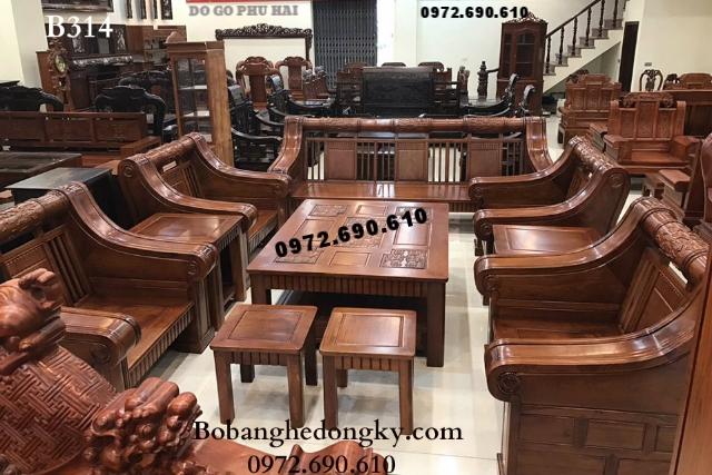 Bàn ghế gỗ phòng khách đẹp Kiểu dáng hiện đại B314
