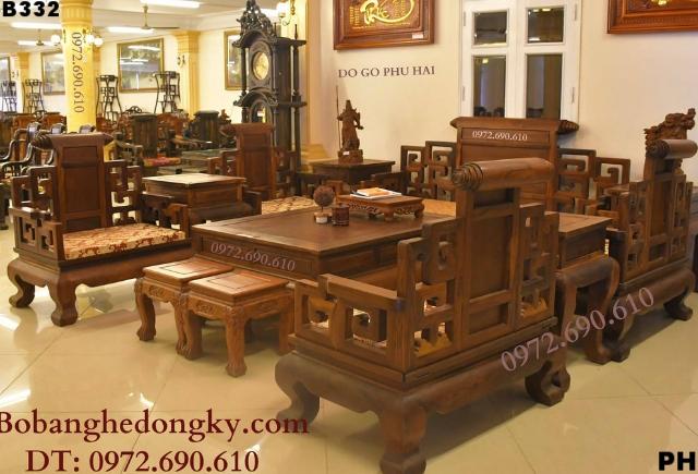 Mẫu Bộ Bàn Ghế Phòng Khách Sang Trọng Cho Biệt Thự B332