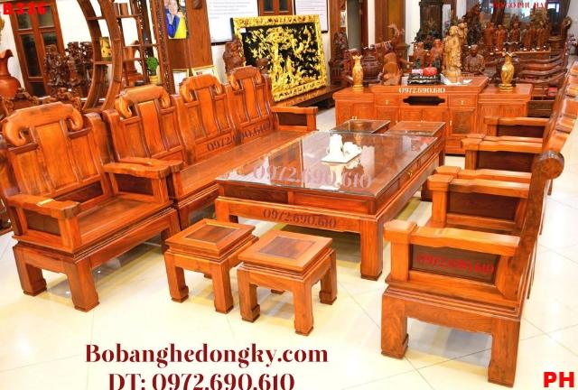 Nơi Bán Bộ Bàn Ghế Gỗ Đẹp kiểu Như ý Tại Quảng Ninh B336...