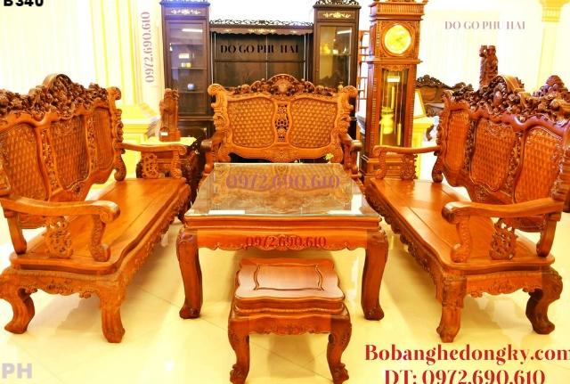 Bộ Bàn Ghế Kiểu Cổ Điển Cho phòng khách đẹp B340