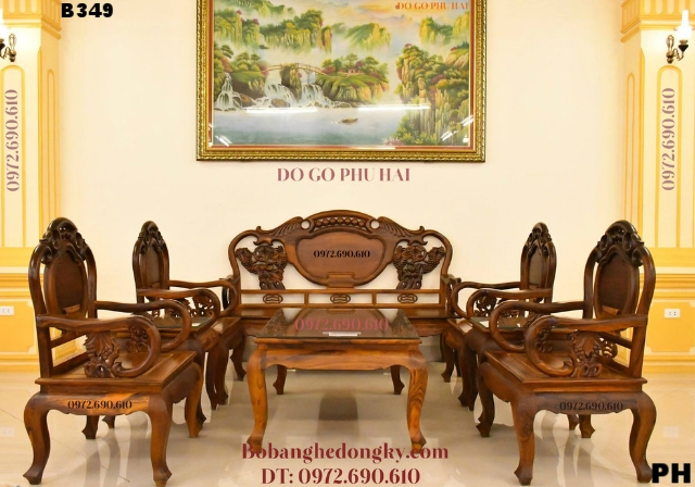 Giới Thiệu Bộ Bàn Ghế Phòng Khách Đẹp Mẫu Cổ B349