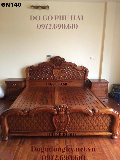 Bán Giường Ngủ Đẹp Giá Sốc Tại Nội Thất Phú Hải GN140