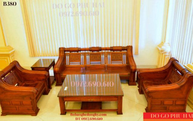 Bộ Bàn Ghế Gỗ Sofa Kiểu Hiện Đại Bobanghedep.com B380