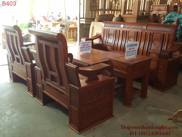 Bộ Bàn Ghế Phòng Khách Gỗ Hương Lào Đẳng Cấp B403
