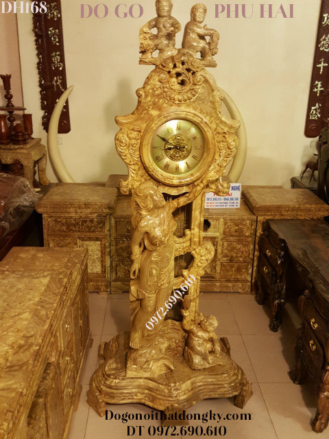Nơi Bán Đồng Hồ Thiên Thần Gỗ Nu Nghiến Đẹp & Hiếm DH168