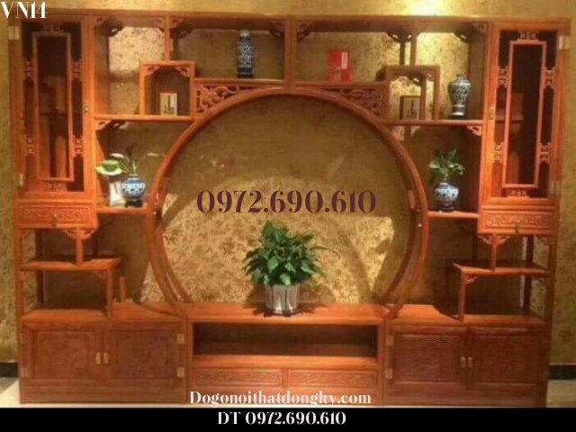 Mẫu Vách Ngăn Phòng Khách Đẹp, Bình Phong VN14