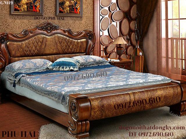 Mẫu Giường Ngủ Đẹp Phong Cách Châu Âu Sang Trọng GN149