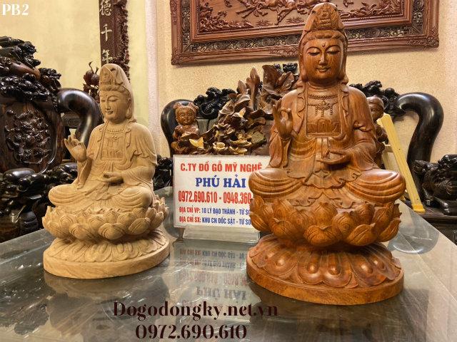Tượng Gỗ Quan Âm – Tượng Phật Quan Âm Bồ Tát FB02