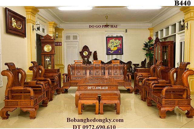 Bộ Bàn Ghế Gỗ Đồng Kỵ Đẹp & Sang Trọng B440