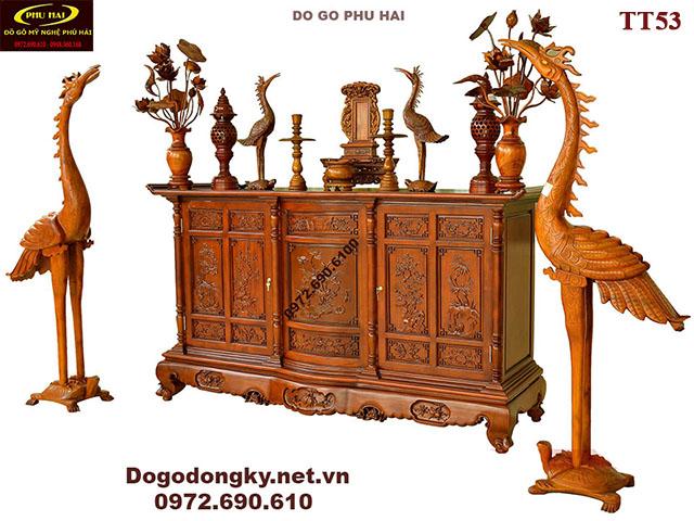 Mẫu Tủ Thờ Gỗ Gụ Đẹp Dogonoithatdongky.com TT53