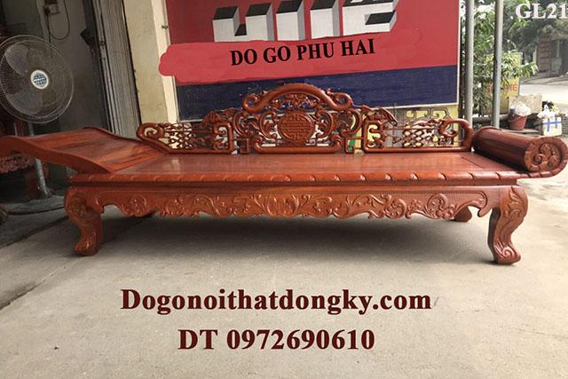 Sofa Gỗ Nằm Thư Giãn Dành Cho Người Cao Tuổi GL21