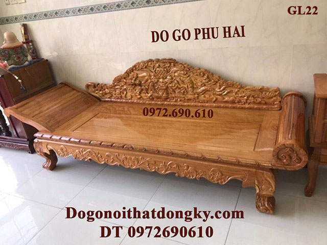 Sofa Gỗ Nằm Thư Giãn Cho Người Già GL22