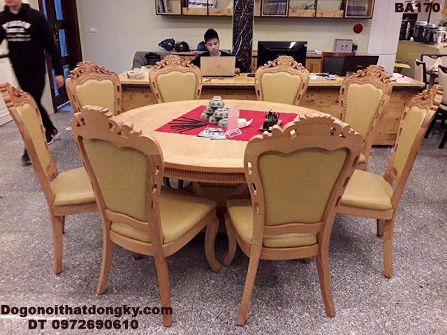 Bộ Bàn Ghế Ăn Bàn Tròn 8 Ghế Cho Phòng Ăn Vip BA170