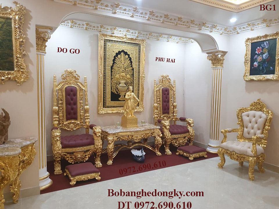 Ghế King Vua Đẳng Cấp Quí Tộc, Thượng Lưu Dát Vàng BG1