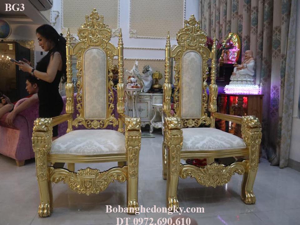 Mẫu Ghế Phòng Khách King Gold Dát Vàng Quí Tộc BG3