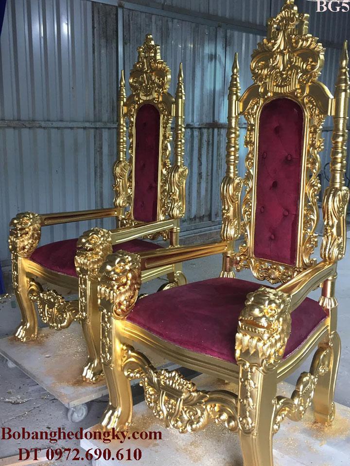 Ghế Hoàng Gia, Bộ Ghế Royal King Dùng Tiếp Khách VIP BG5