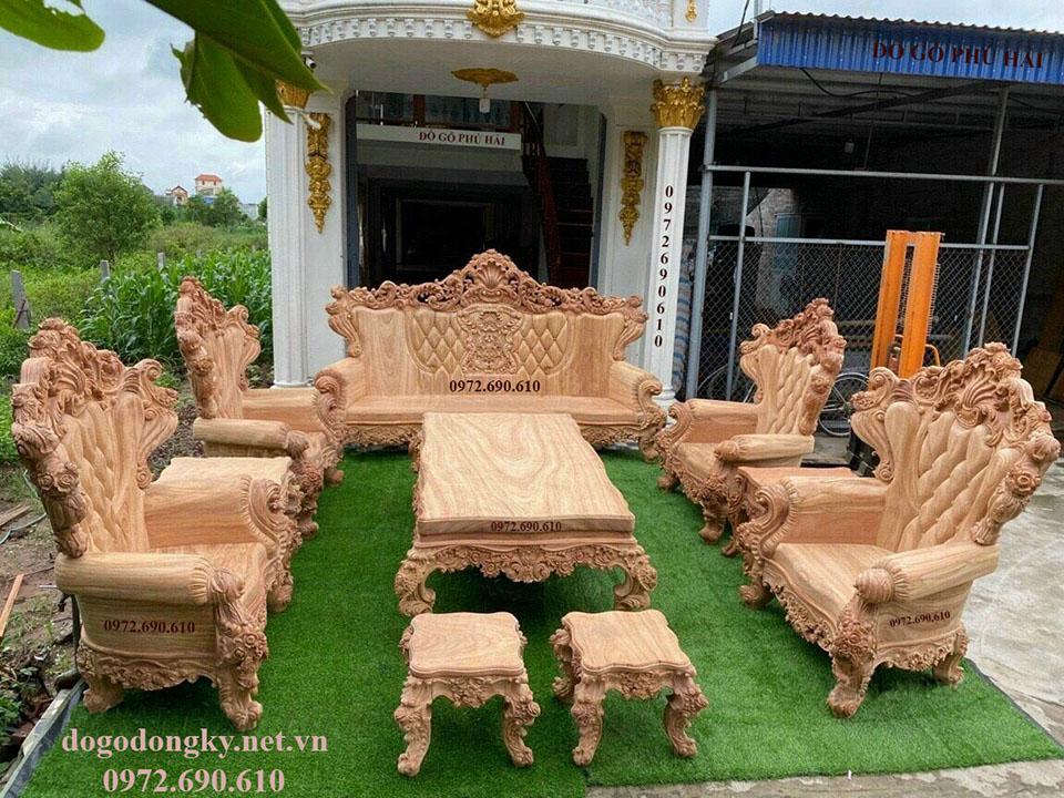 【NGẮM】Bộ Bàn Ghế Hoàng Gia Siêu VIP Chính Hiệu Phú Hải B506