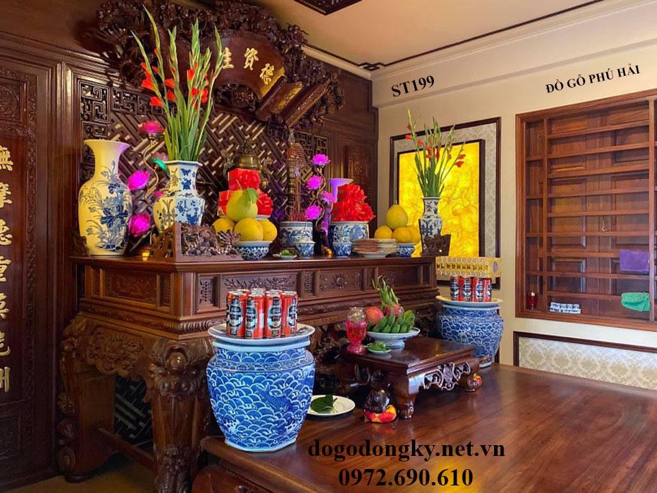 【NGẮM】Mẫu Phòng Thờ Thiết Kế Đẹp | Đồ Thờ Phú Hải S...