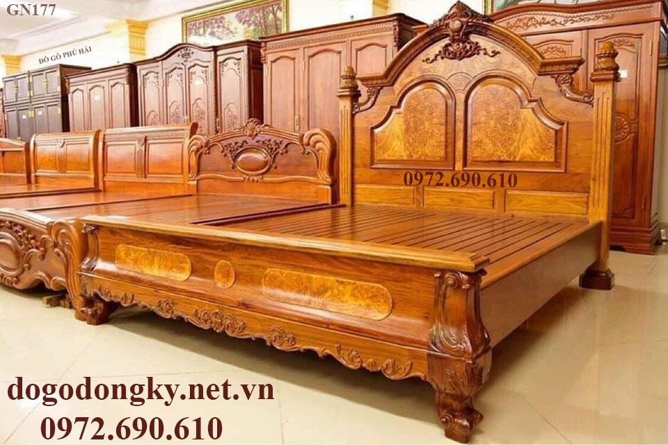 Giường Ngủ Nữ Hoàng Sang Trọng | Đồ Gỗ Phú Hải GN177