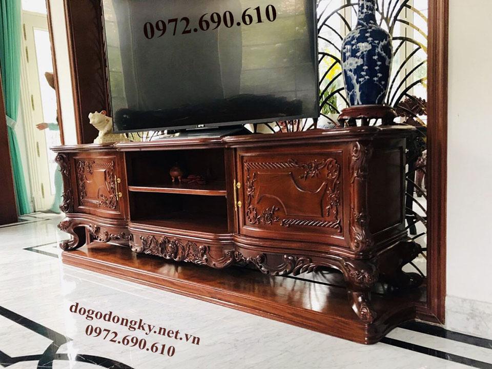 Mẫu Kệ Tivi Phòng Khách Đẹp | Đồ Gỗ Phú Hải KTV22