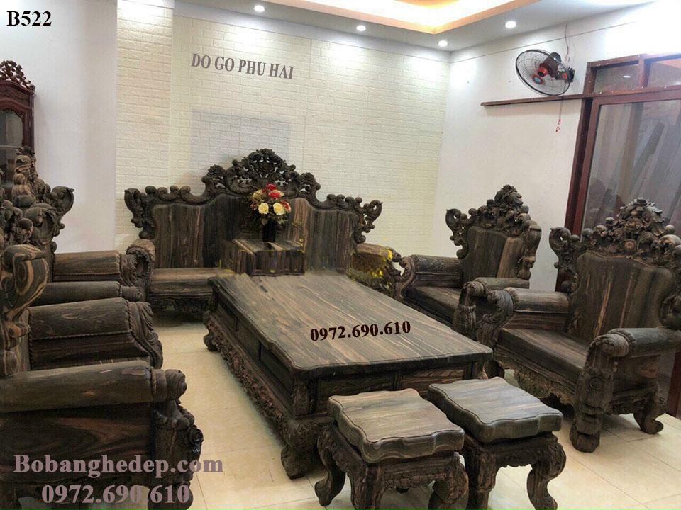【SỞ THỊ】Bộ Bàn Ghế Gỗ Mun Siêu VIP | Đồ Gỗ Phú Hải B5...