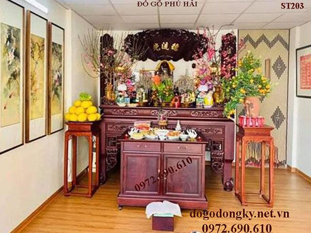 Thiết Kế Phòng Thờ Đẹp Hợp Phong Thủy | Đồ Thờ Phú Hải S...